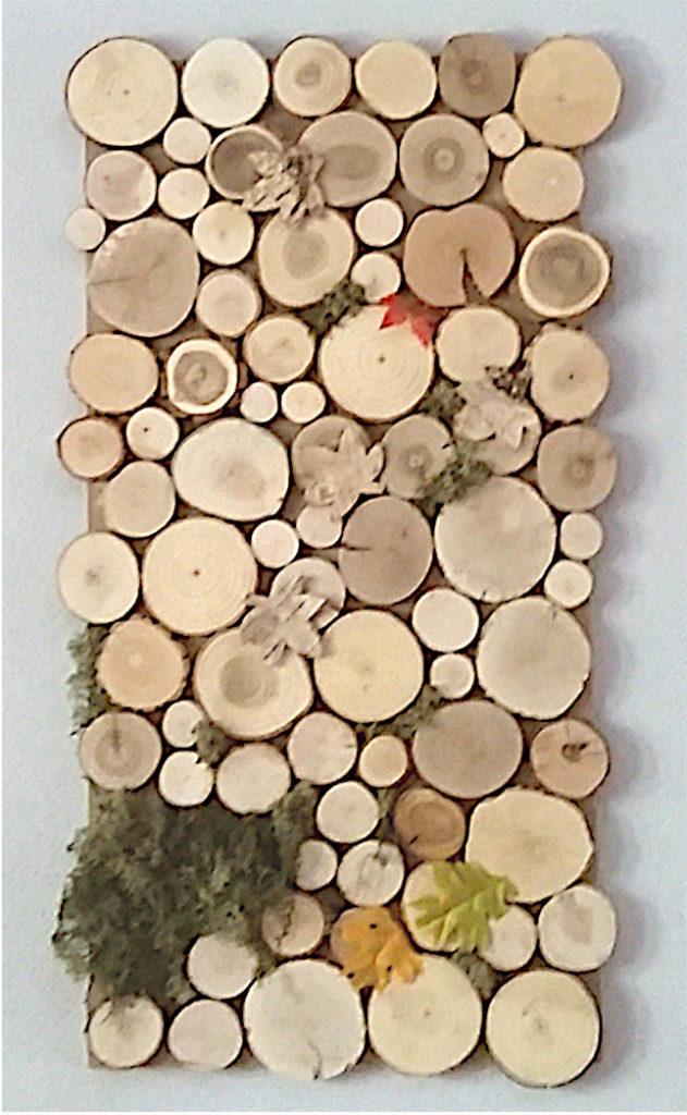 Wand-Deko aus Holz